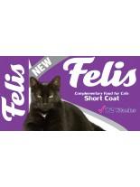Felis Short Coat Cats - пълноценна формула за късокосмести котки с 12 витамина за здраве и жизненост - 15 кг.