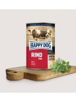 HAPPY DOG - Rind Pur - Консерва 100% говеждо месо - без соя, растителни добавки, оцветители или консерванти - 0.400 кг.