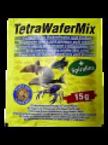 Tetra WaferMix - ежедневна храна за дънни рибки - 15 гр.