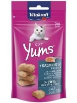 Vitakraft Cat Yums - Сочни хапки за коте с крехка сьомга и изключително високо месно съдържание - 40 гр.