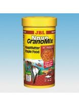 JBL NovoGranoMix - всекидневна храна за аквариумни рибки за смесени аквариуми - гранули - 250 ml.