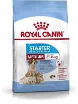 Royal Canin MEDIUM Starter –  суха гранулирана храна за отбиване на кученца, бременни и кърмещи майки от средните породи -  12 кг.