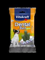 Vitakraft Dental 3in1 Fresh ExtraSmall - дентални солети за кучета под 10 кг. с три активни съставки - 7 бр. - 70 гр.
