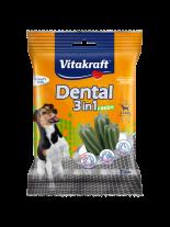 Vitakraft Dental 3in1 Fresh Small - дентални солети за кучета от 5 до 10 кг. с три активни съставки - 7 бр. - 120 гр.