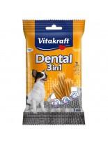 Vitakraft Dental 3in1 Extra Small - дентални солети за почистване на зъбите след основното хранене на кучета до 5 кг. - 7 бр. - 70 гр.