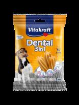 Vitakraft Dental 3in1 Small - дентални солети за почистване на зъбите след основното хранене на кучета от 5 до 10 кг. - 7 бр. - 120 гр.