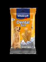 Vitakraft Dental 3in1 Medium - дентални солети за почистване на зъбите след основното хранене на кучета над 10 кг. - 7 бр. - 180 гр.