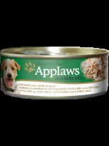 Applaws Chicken With Lamb In Jelly - Високо качествена консерва за кучета с месни хапки с пилешко и агнешко месо в желе - 156 гр.
