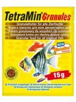TetraMin Granules - основна храна за всички видове аквариумни рибки (на гранули) -  15 гр.