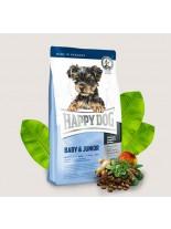 HAPPY DOG Mini Baby & Junior - суха храна за бебета и подрастващи кученца от мини породи до 10 кг. с месо и билки - 1 кг.