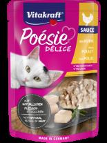 Vitakraft POESIE Pouch - Пауч за котки над 1 година - вкусен сос с истински парченца пилешко месо - 85 гр.