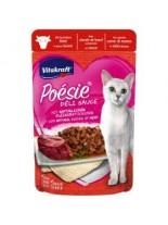 Vitakraft POESIE Pouch - Пауч за котки над 1 година - вкусен сос с истински парченца говеждо месо - 85 гр.