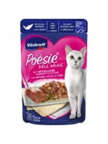 Vitakraft POESIE Pouch - Пауч за котки над 1 година - вкусен сос с истински парченца океанска сьомга - 85 гр.