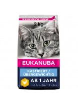 Eukanuba Adult Overweight/Sterilised - суха храна за кастрирани възрастни котки и котки над една година с наднормено тегло - 3 кг.
