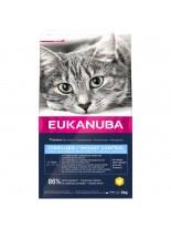 Eukanuba Adult Overweight/Sterilised - суха храна за кастрирани възрастни котки и котки над една година с наднормено тегло - 10 кг.