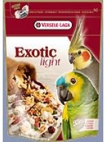 Versele Laga  Exotic Light - висококачествена, премиум клас суха храна за големи и средни папагали  с пуканки и семена - 0,750 кг