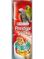 Versele Laga  Prestige Sticks Exotic Fruits  - крекери за големи папагали  с екзотични плодове 2 бр. по 70 гр.