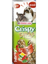 Versele Laga  Crispy Sticks herby - крекер с билки за декоративни зайчета и чинчили - 2 броя по 55 гр.