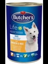 Butchers Life with chicken and rice pate -високо качествена храна за кучета над 6 месеца с пиле и ориз - пастет - 0.390 кг.