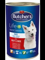 Butchers Life with beef and rice pate -високо качествена храна за кучета над 6 месеца с говеждо и ориз - пастет - 1.200 кг.