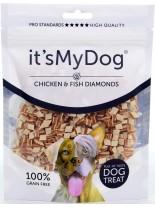 Its My Dog Chicken & Fish Diamands Grain Free - неустоимо лакомство за кучета с пиле и риба диамант - без зърно - 85 гр.