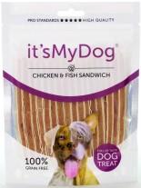 It's My Dog Chicken & Fish Grain Free - Лакомство за куче от чисто месо , без зърно - с ленти пиле и риба - 85 гр.