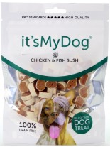 Its My Dog Sushi Chicken & Fish Grain Free - неустоимо лакомство за кучета - суши пиле и риба - без зърно - 85 гр.
