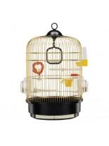 Ferplast - CAGE REGINA BRASS - оборудвана клетка за птици  - Ø32,5xH 48,5 см