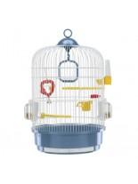 Ferplast - CAGE REGINA WHITE - оборудвана клетка за птици   - Ø32,5xH 48,5 см