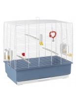 Ferplast - CAGE REKORD 4 BLACK - оборудвана клетка за птици  с размери - 59х33х57см
