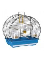 Ferplast - Luna 1 Black - оборудвана клетка за птици  - 40x23,5x38,5 см