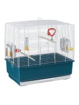 Ferplast - CAGE REKORD 3 PEARLY WHITE - оборудвана клетка за птици  - 49х30х48,5 см