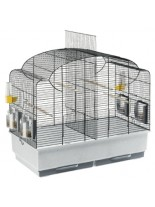 Ferplast - CAGE CANTO BLACK - оборудвана клетка за птици  - 71х38х60,5 см
