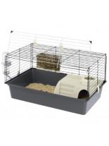 Ferplast -CAGE CAVIE 80- оборудвана клетка за зайци и други гризачи  необорудвана с размери - 79х49х43,5 см