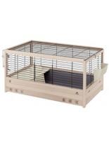 Ferplast - CAGE ARENA 100 BLACK - оборудвана дървена клетка за зайци - 100x62,5x51 - см.