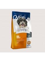 HAPPY DOG  F & W Adult Mini - суха храна за пораснали кучета над 10 месеца от Мини породите до 10 кг  с пилешко и агнешко, билки, омега-3 и омега и 6 мастни к-ни - 1 кг.