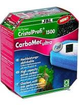 JBL Carbomec ultra Pad CP e 1500/1 - филтрираш активен въглен за аквариумен филтър с гъба за филтър модел - СР е 1500/1 - 800 мл.