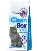 CleanBox Super Premium - , постелка за котешка тоалетна от фин бял бентонит - лавандула - 5 л.