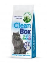 CleanBox Super Premium - , постелка за котешка тоалетна от фин бял бентонит - Алое Вера - 5 л.