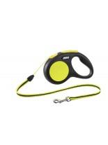 Flexi - Classic Neon S Mini- Автоматичен, светлоотразителен повод с въже - 5 м., за кучета до 12 кг.