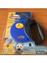 Flexi - Comfort Compact - Автоматичен повод с въже 8 м. за кучета до 12 кг. - син