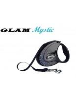 Flexi Glam Mystic CRYSTALIZED Swarovski - луксозен автоматичен повод с камъни 3 м., за кучета до 12 кг.
