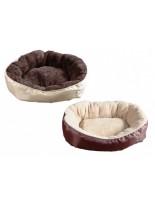 Karlie - високо качествено и удобно, плюшено легло за домашни любимци - 52 x 46 х 18 см. - бежаво или тъмно кафяво