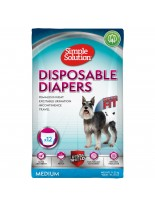 Simple Solution Disposable Diapers - Памперси за женски кучета - размер М - 12 бр.