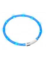 Karlie Светещ LED нашийник Visio шлаух 70см, (без полухалка), с USB за зареждане, син