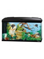 Ferplast Aquarium Capri 80 LED BLACK  - аквариум с пълно оборудване и LED осветление - 80 x 31,5 x h 46,5 см - 100 л. - черен