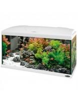 Ferplast Aquarium Capri 80 LED WHITE - аквариум с пълно оборудване и LED осветление - 680 x 31,5 x h 46,5 см - 100 л. - бял - нов код 65018111