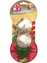 8in1 - Месни дъвчащи топчета с пилешко - M - 2 бр.