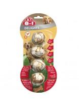 8in1 - Месни дъвчащи топчета с пилешко - S - 4 бр.