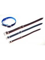 Миазоо Кожено- текстилен нашийник - 1.5/40 см. -  черно/червено или черно/синьо